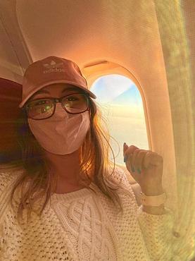 Amanda Corcino viajou ao lado de uma pessoa que não queria usar máscara (Arquivo Pessoal)