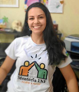 O projeto Enfermeir@s ajudou Nathalya Silveira a conhecer melhor a profissão (Antoniele Silveira/Divulgação)