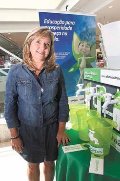 Silvana, uma das autoras do projeto: consciência e responsabilidade (Oswaldo Reis/Esp. CB/D.A Press)
