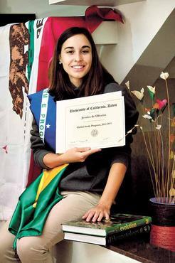 Jéssica morou na Califórnia e adquiriu boas experiências para a carreira (Oswaldo Reis/Esp. CB/D.A Press )